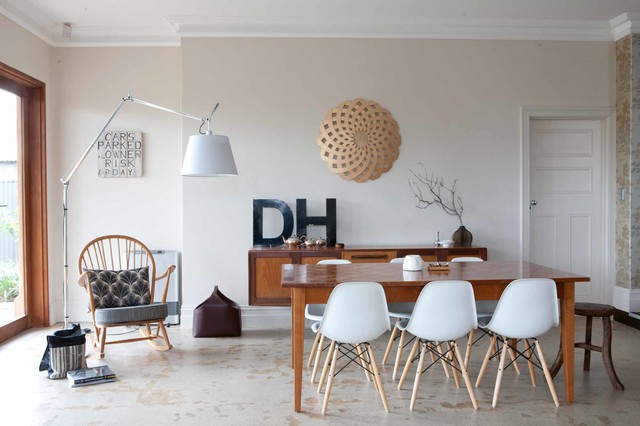 HD House One Small Room Design Midcentury Dining Room