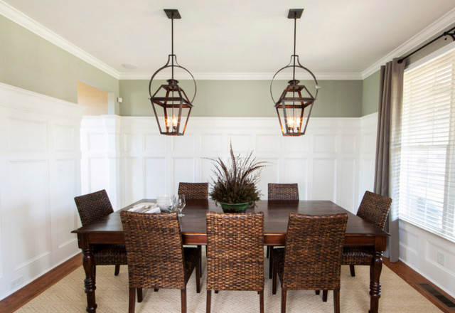 Hanging Electric Yoke Lanterns, Dining Table - Traditional ...