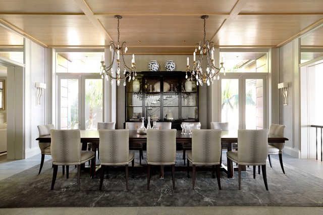 Harbour House Transitional Dining Room Sydney By Porebski Architects