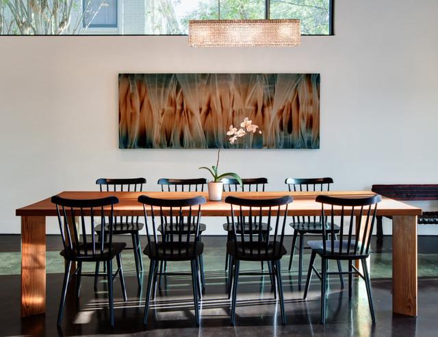 Modern dining room by hugh jefferson randolph architects