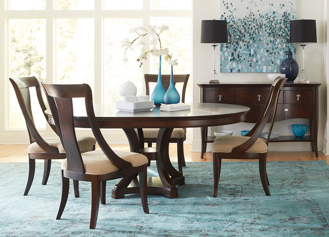 Havertys Furniture Transitional Dining Room - Living Room ...