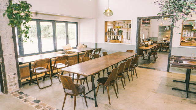hayes common cafe rustic dining room hamilton by new image homes
