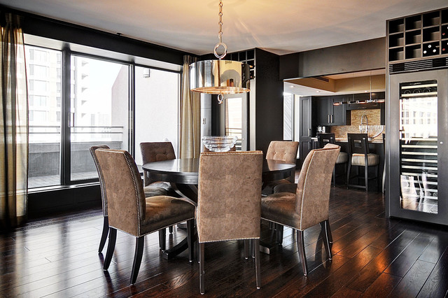 Hazelton lanes condominium transitional dining room for Dining room design questions