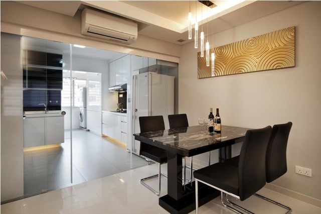HDBHougangSingapore Contemporary Dining Room