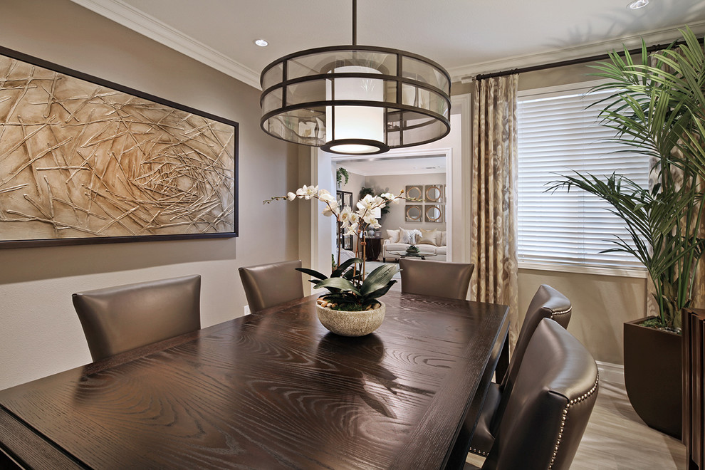 Inspiration for a transitional dining room remodel in Orange County