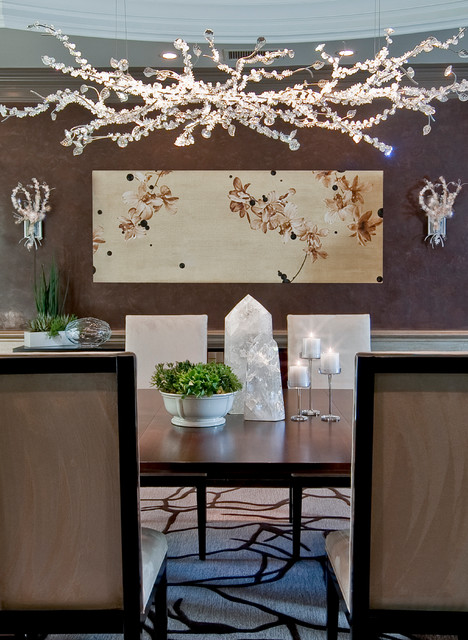 Hidden Hills Residence contemporary dining room