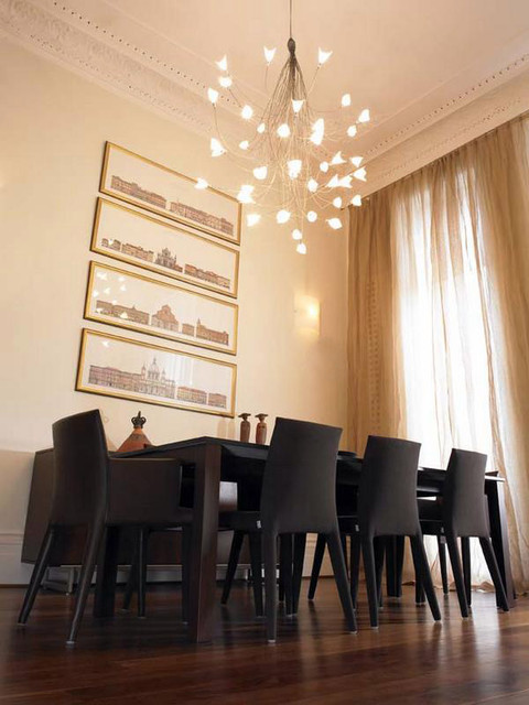 high ceiling stunner contemporary dining room - High Ceiling Dining Room Lighting