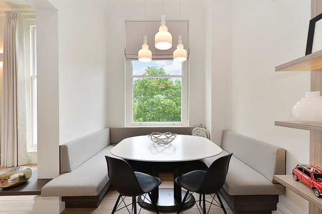 High end apartment in South Kensington, London scandinavian-dining-room