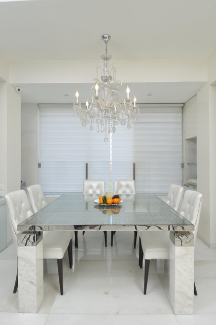 High end residential project at Marine drive. contemporary-dining-room