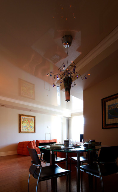 High Gloss Stretch Ceiling in a York Mills Centre Condo contemporary-dining-room