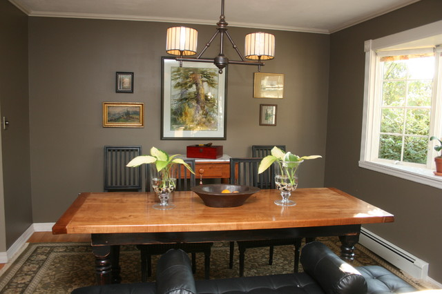 High Style in the Suburbs eclectic dining room