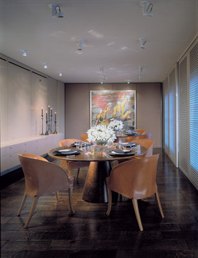 highland park contemporary dining room