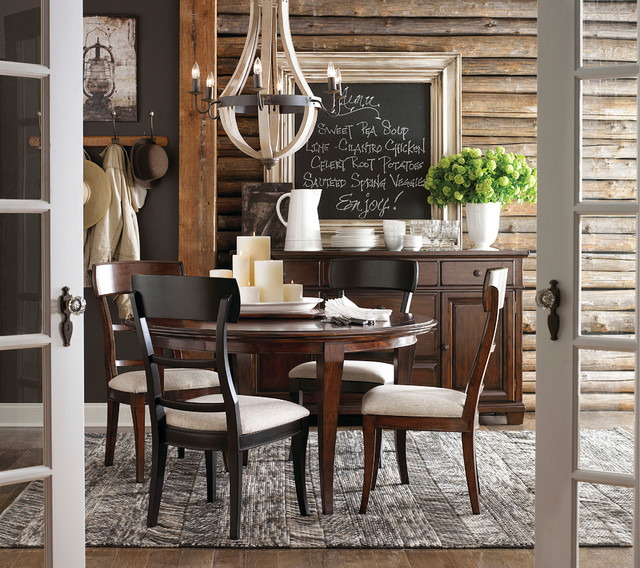 Highlands Round Dining Table By Bassett Furniture Contemporary Dining Room