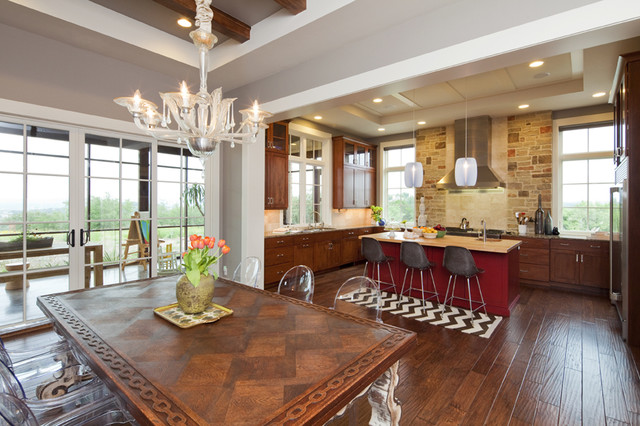 Hill Country Retreat eclectic-dining-room