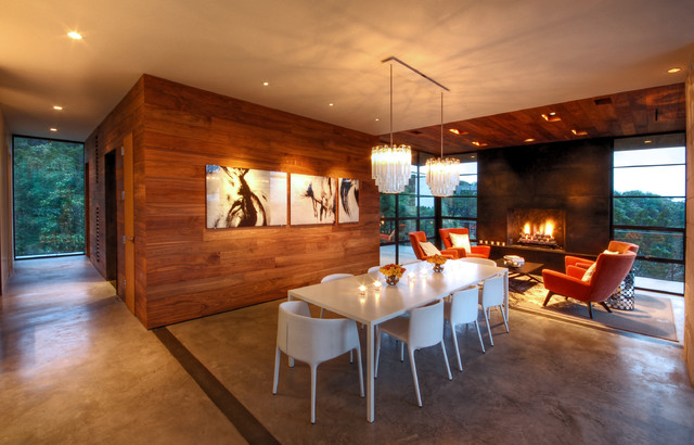 Hill Country Residence Modern Dining Room Austin