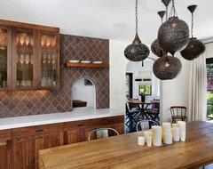 Hillsborough Spanish Influence contemporary-dining-room