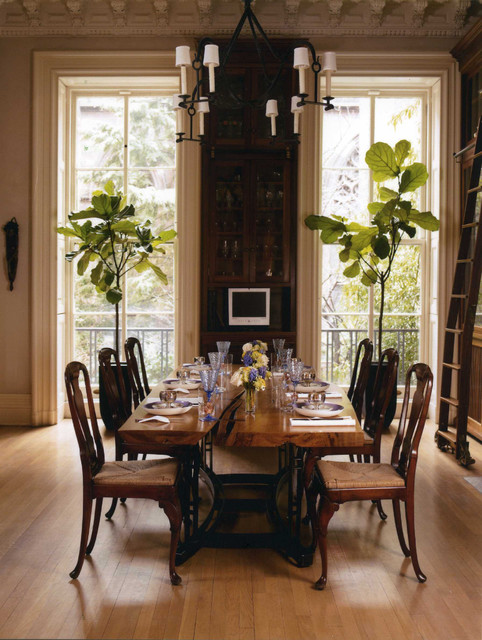 historic brooklyn townhouse traditional dining room