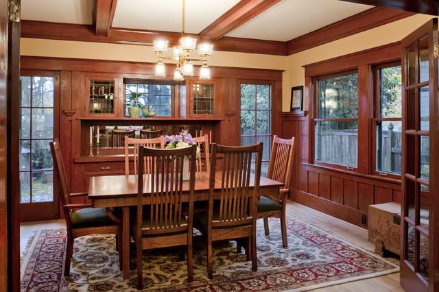historic craftsman bunglo remodel craftsman dining room portland