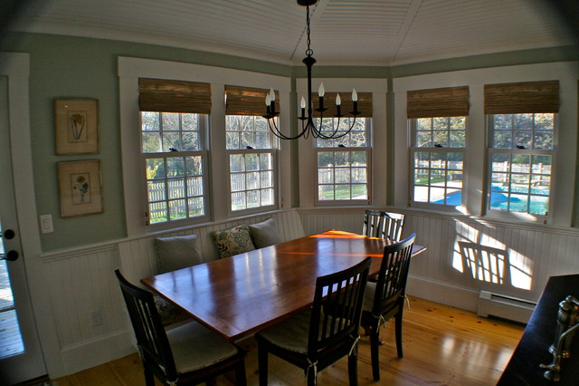 Historical Kings Highway route 6A Renovation traditional-dining-room