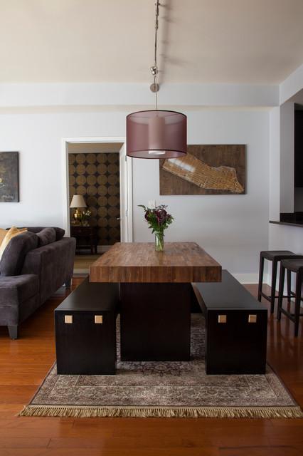 hoboken waterfront condo contemporary dining room