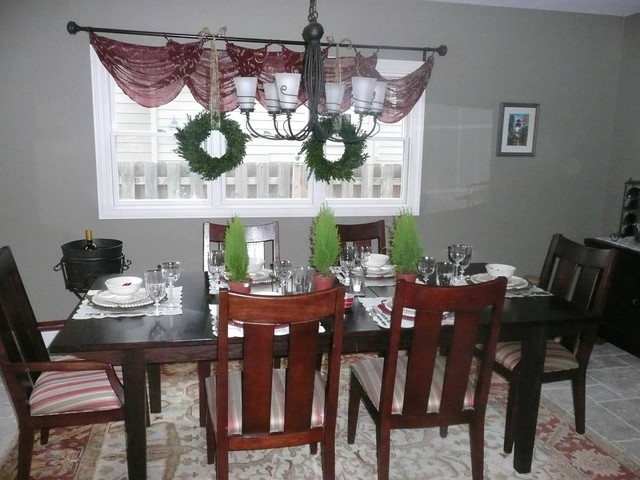 Holiday decorating traditional dining room cleveland for Dining room design questions