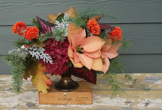 Put Together a Holiday Centerpiece the Slow Flowers Way (14 photos)