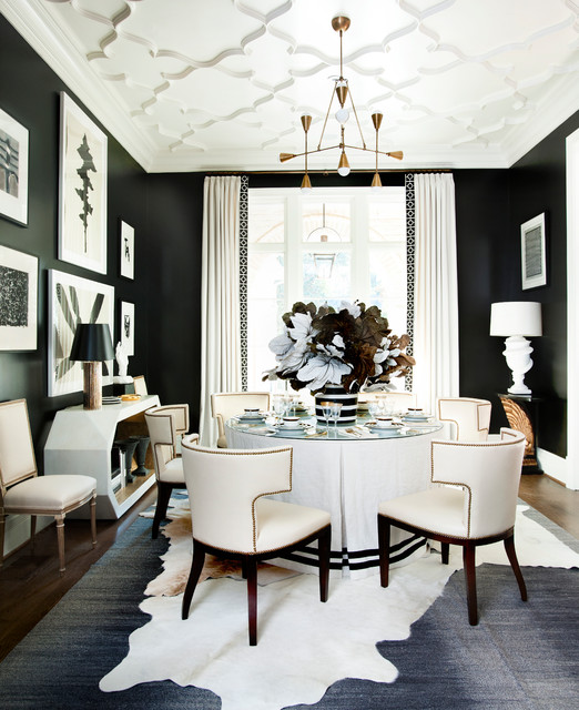 Transitional Dining Room: Holiday House 2014