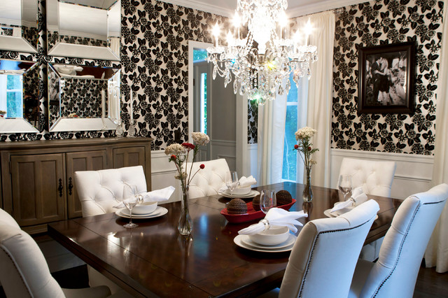 Hollywood glam contemporary dining room other by for Glam dining room ideas
