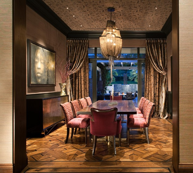 Hollywood Glamour Meets Modern Modern Dining Room