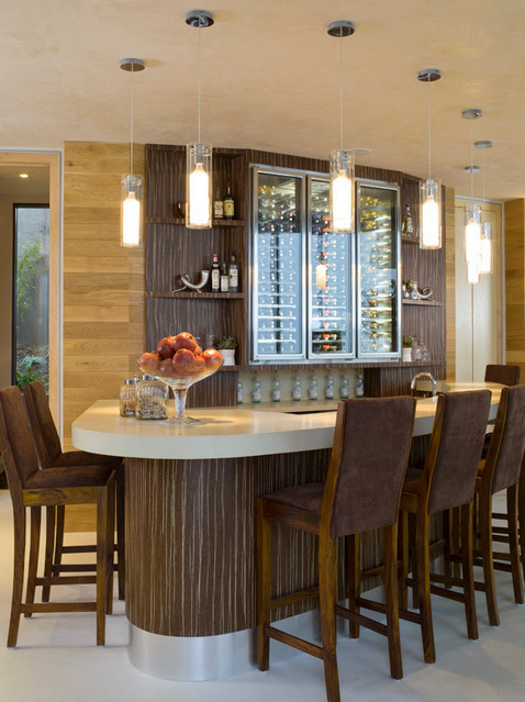 Hollywood Hills contemporary-dining-room
