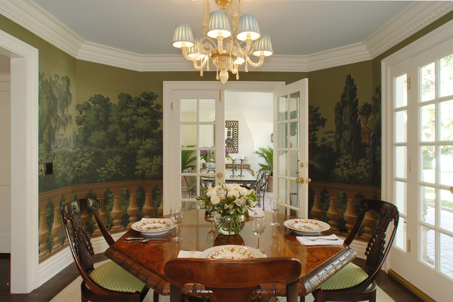 Hollywood Makeover Traditional Dining Room Los