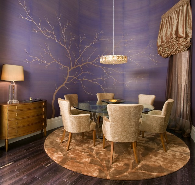 Dramatic Dining Room in Hollywood Regency Style - Robert Naik photography contemporary-dining-room
