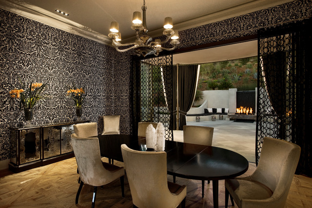 Hollywood Regency Montecito Midcentury Dining Room
