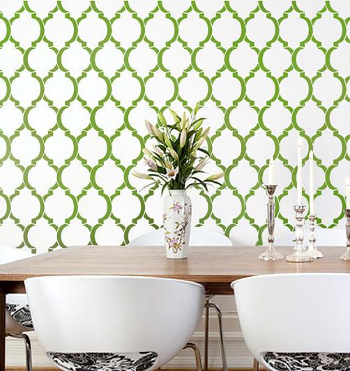 Home Decor Wall Stencils Modern Dining Room New York