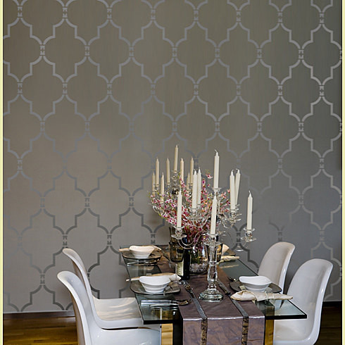 Modern Dining Room on Home Decor Wall Stencils   Modern   Dining Room   New York   By Janna