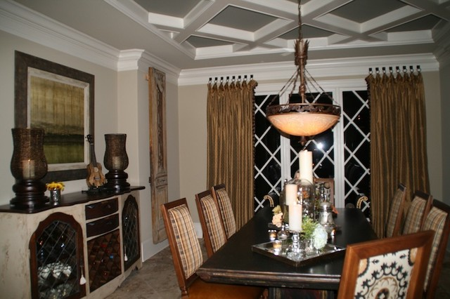Home decor window treatments for Modern dining room window treatments