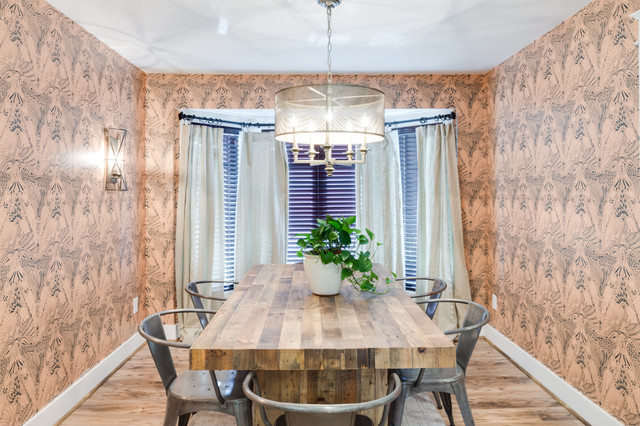 Home Free Episode 5 Farmhouse Dining Room atlanta by Savoy House Ligh