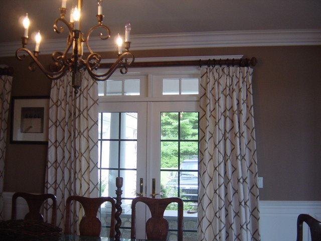 Home in kingston ma traditional dining room boston for Dining room drapes