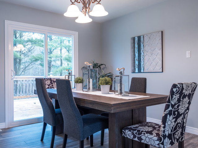 Inspiration for a dining room in Toronto.
