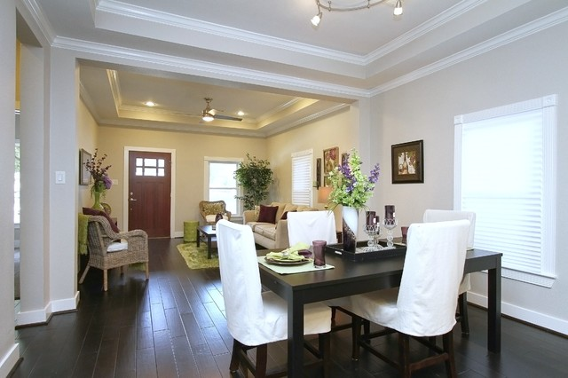 Home Staging On Northwood In The Heights Transitional Dining Room Houst