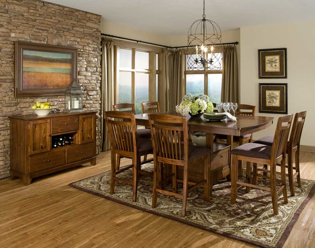 Homelegance Marcel Counter Height Dining Set - Warm Oak contemporary-dining -room : rustic counter height dining table sets - pezcame.com