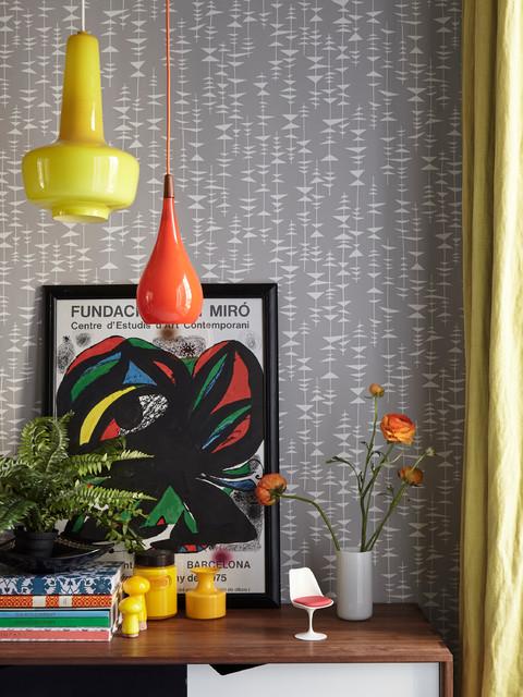 Homes & Antiques magazine midcentury-dining-room