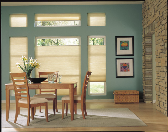 Honeycomb for Modern dining room window treatments