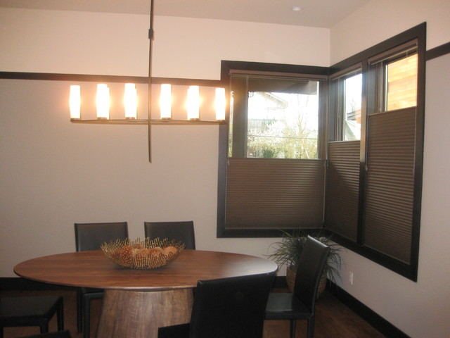 Honeycomb Shades contemporary-dining-room