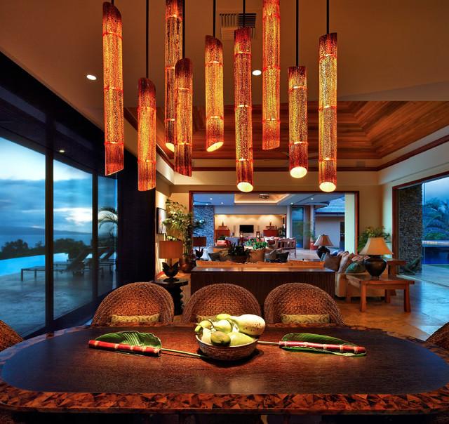 tropical dining room | Honolua Ridge, Maui, Residence - Tropical - Dining Room ...