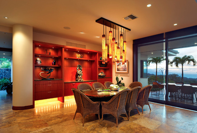 Honolua Ridge, Maui, Residence tropical-dining-room