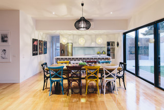 Hope Street Extension Eclectic Dining Room Geelong By Charles Maccora Design
