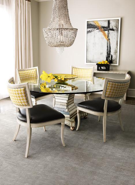 Elegant dining room photo in Dallas