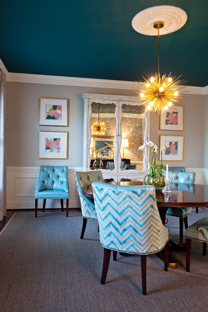 House Of Turquoise Transitional Dining Room