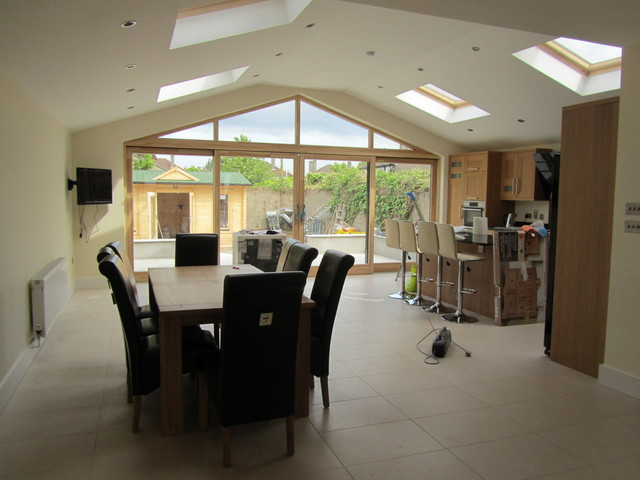 House Renovation And Extension Contemporary Dining Room Dublin By Ks Construction